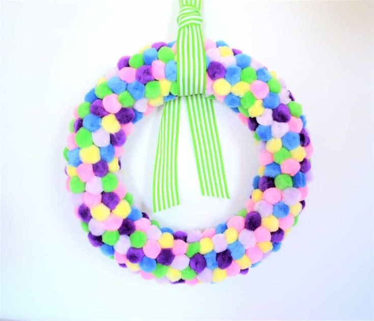 Spring Wreath Idea {Make a Pom Pom Wreath}