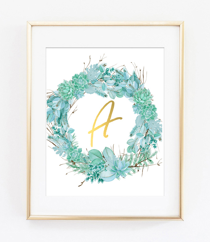 free printables | wall art succulents | cheap art | wall art ideas | twig | floral | succulents
