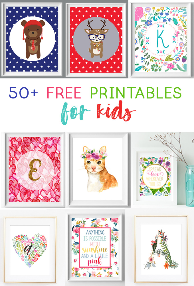 Nursery And Kids Wall Art Free Printables