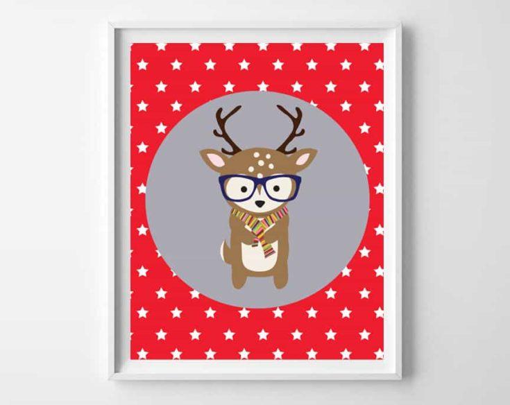 Boy Nursery Idea {Woodland Animals Printable Art}