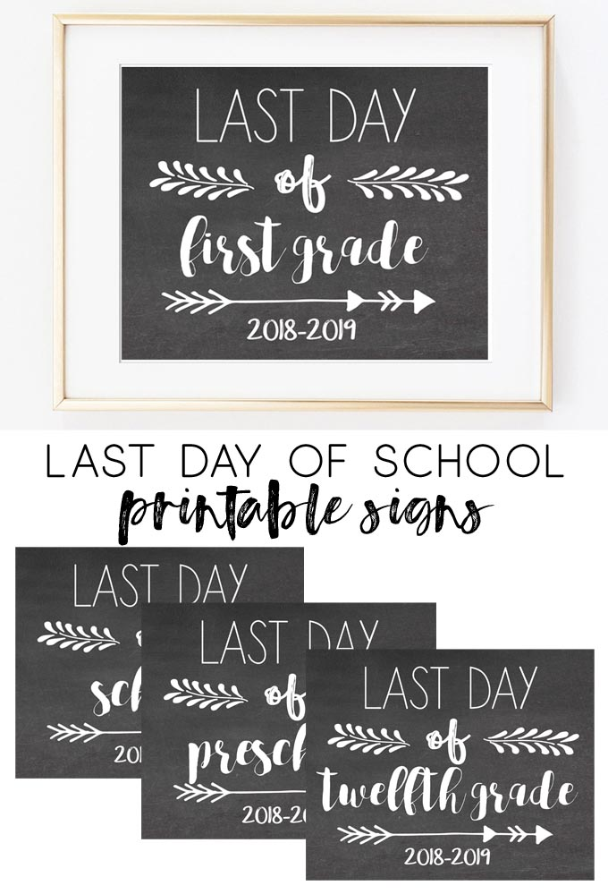 last day of school printable signs | last day signs | free printables | school signs | last day signs 2019