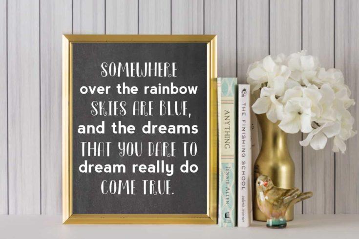 Somewhere Over the Rainbow Art
