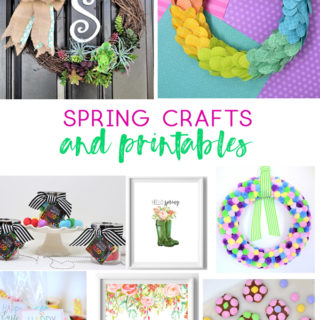 spring crafts | spring printables | free printables | kids crafts | wreaths | flower pretzel bites