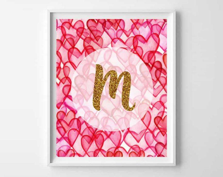 Valentine's Day Art {free alphabet printables}
