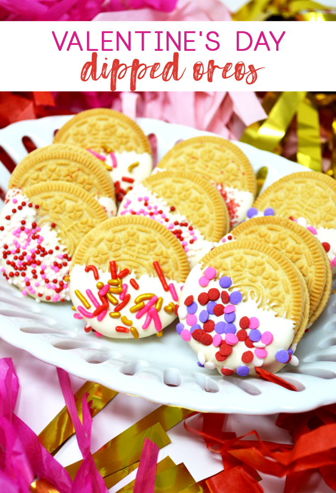 valentines day treat | dipped oreos | chocolate covered oreos | easy treat | valentines day dessert