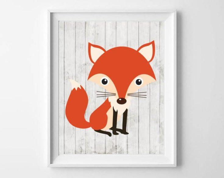 Woodland Animals Nursery Art {Free Printable Decor}