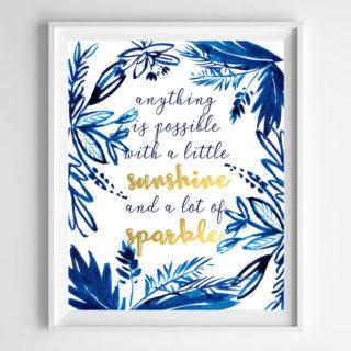indigo wall art printable