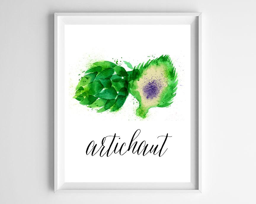 free artichoke printable