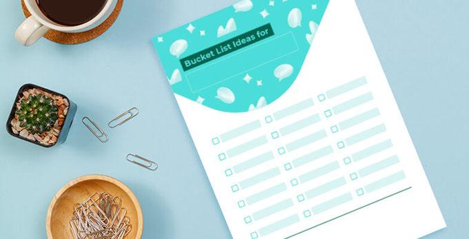 bucket list printable