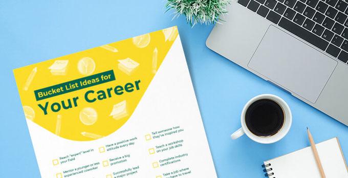 bucket list printable career