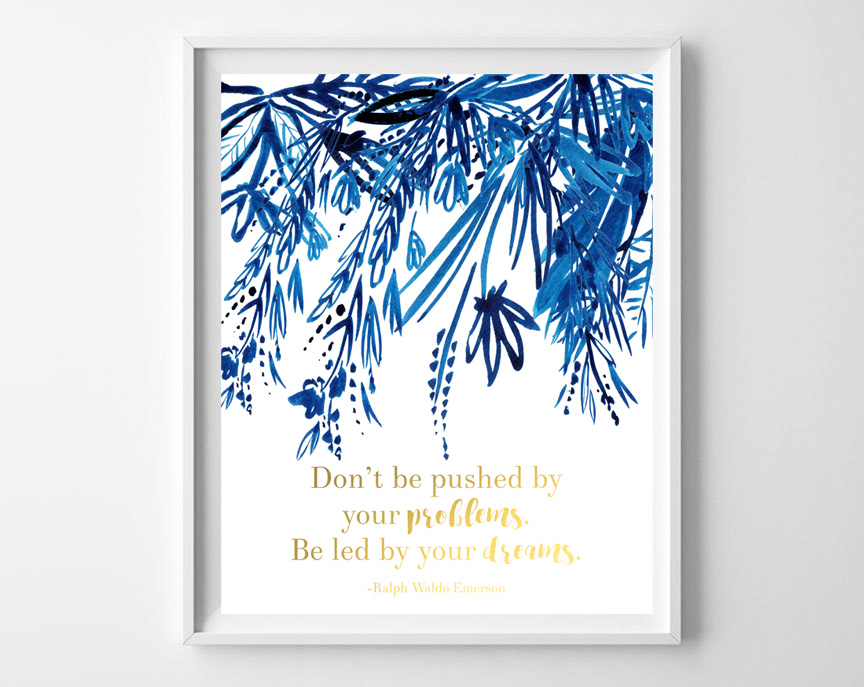 indigo wall art printable 2