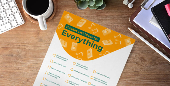 bucket list printable everything