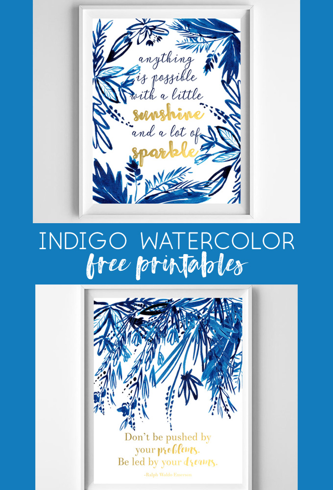 indigo wall art printables