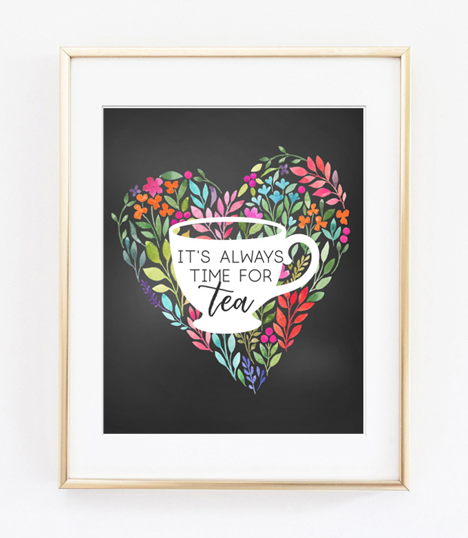 tea printable art