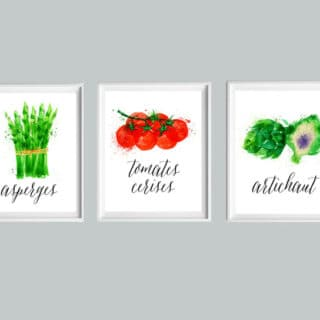 kitchen free printable set