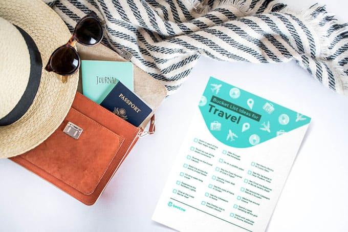 bucket list printable travel