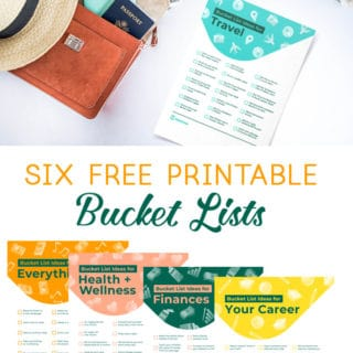 unique bucket list printables