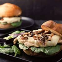Grilled French Onion Chicken Sandwiches Recipe for Two
