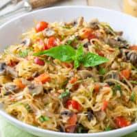 Tomato Mushroom Spaghetti Squash {Whole30 Recipe}