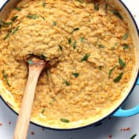 Coconut Lentils with Caramelized Onions