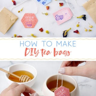 how to make diy tea bags