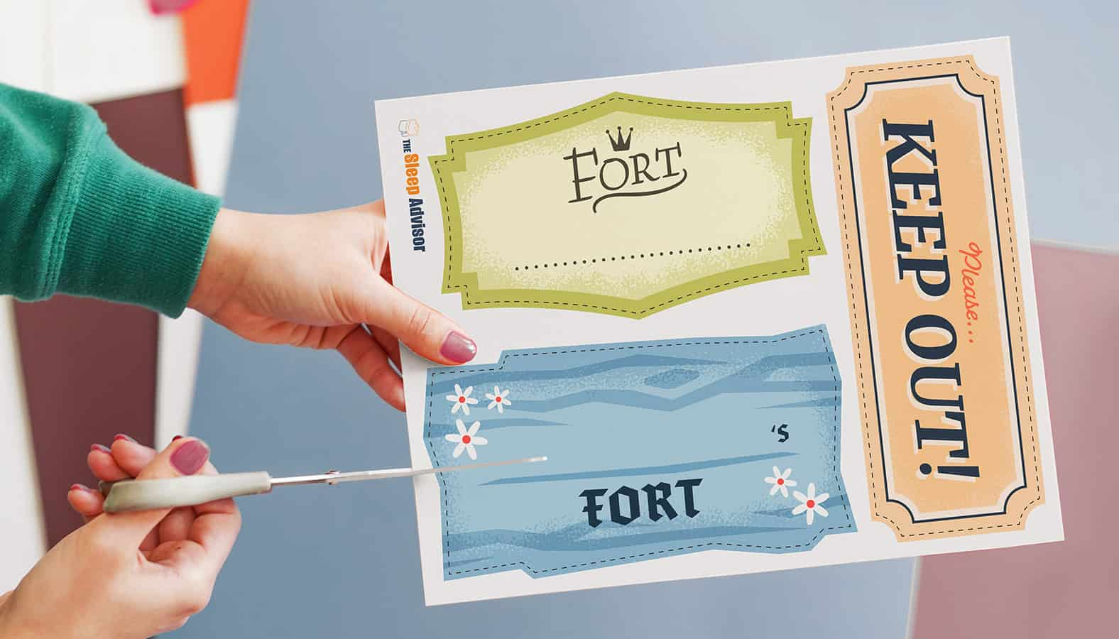pillow fort printable 2