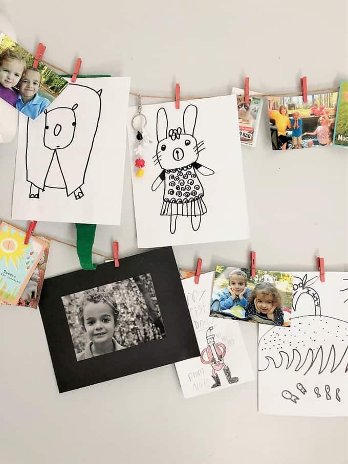 artwork display kids room