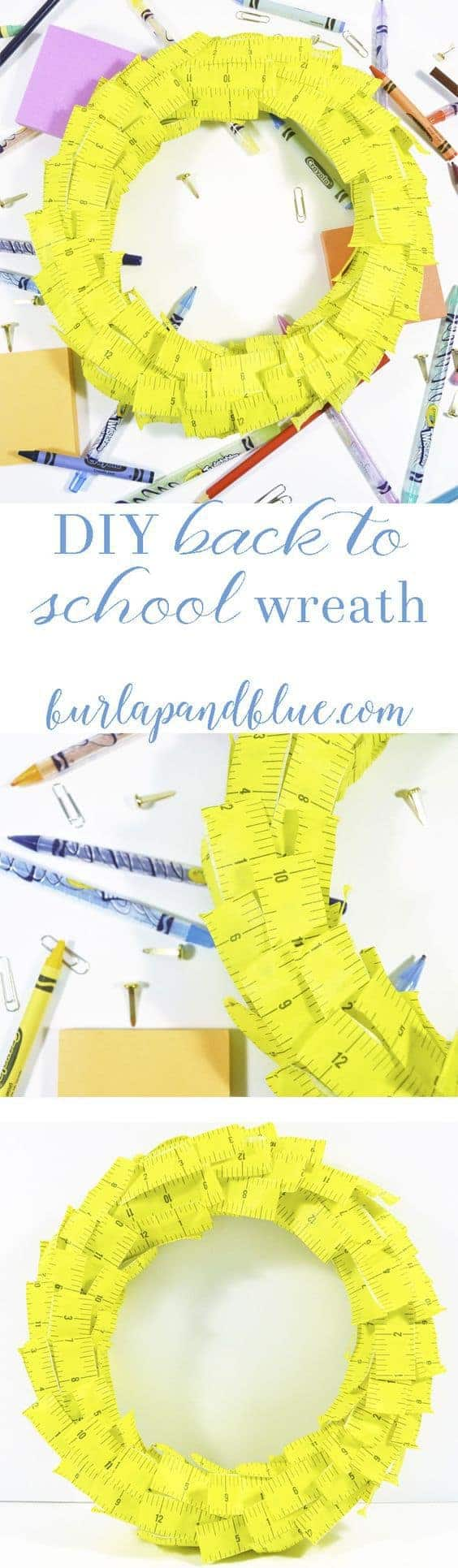 Back to School Ideas {Make a Back to School Wreath}