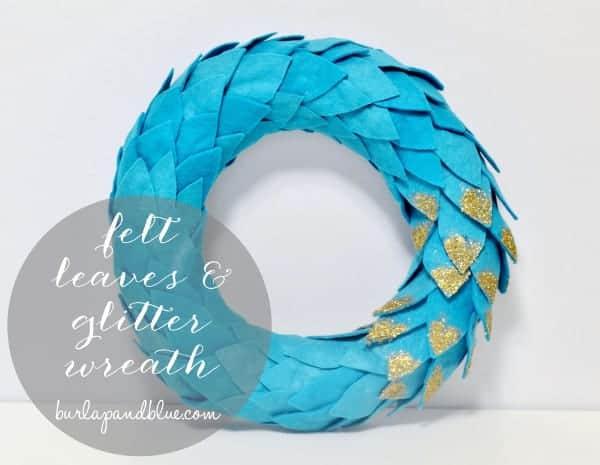 felt & glitter wreath {a tutorial}