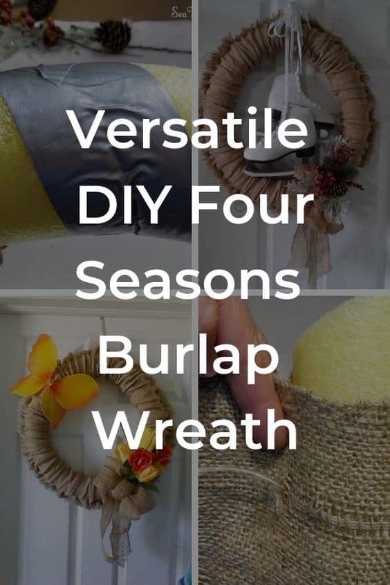DIY Versatile Four Season Burlap Wreath
