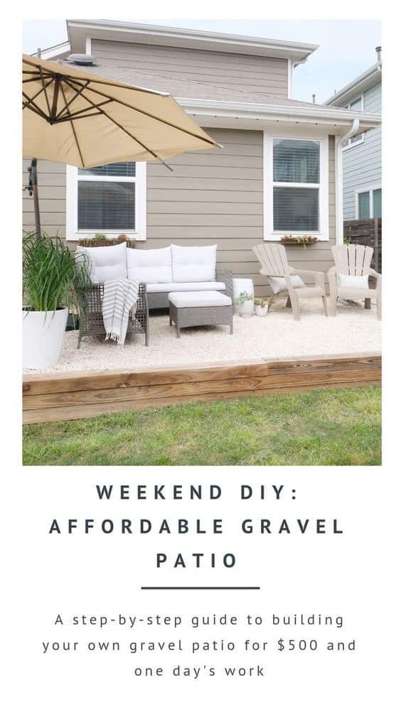 Patio DIY: An Easy & Affordable Gravel Patio