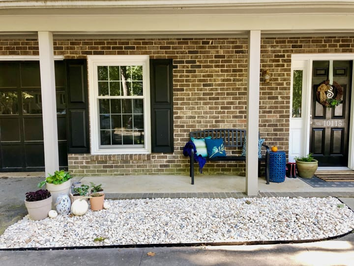 gravel front bed