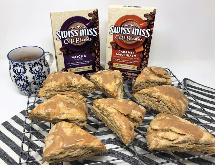 brown sugar cinnamon scones and swiss miss