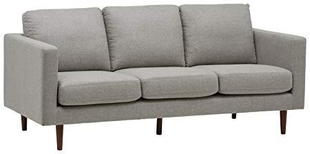 "Rivet Revolve Modern Sofa, 80""W, Grey Weave"
