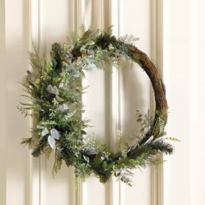 Frosted Winter Christmas Wreath