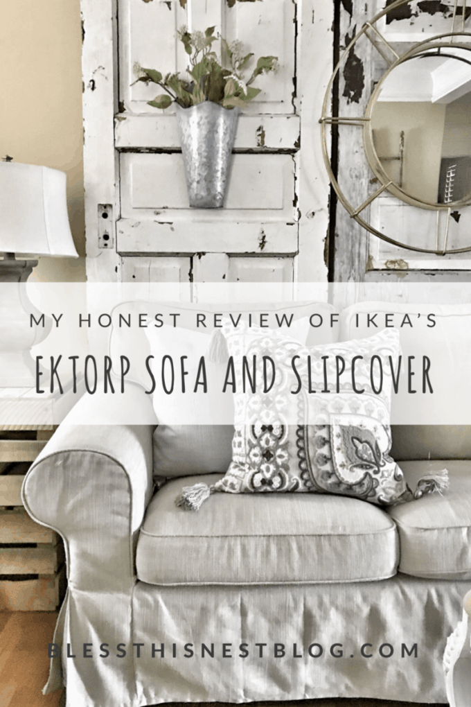My Honest Review of Ikea's Ektorp Sofa and Slipcover- One Year Later