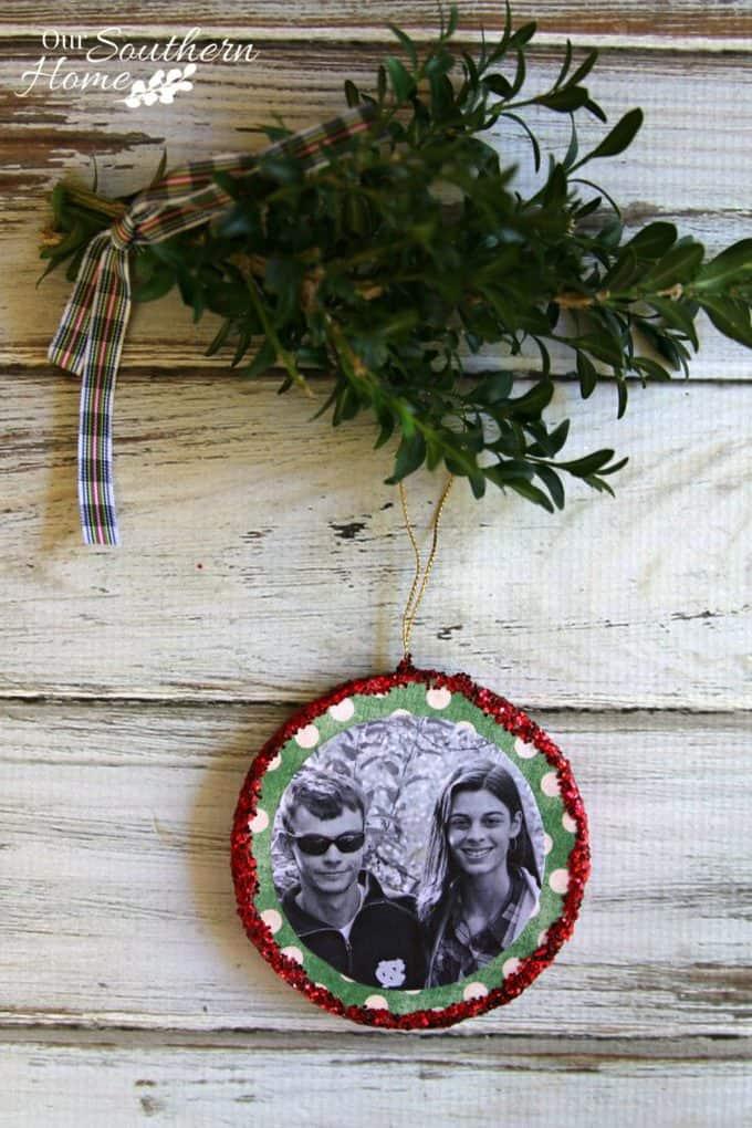 Mod Podge Photo Ornaments