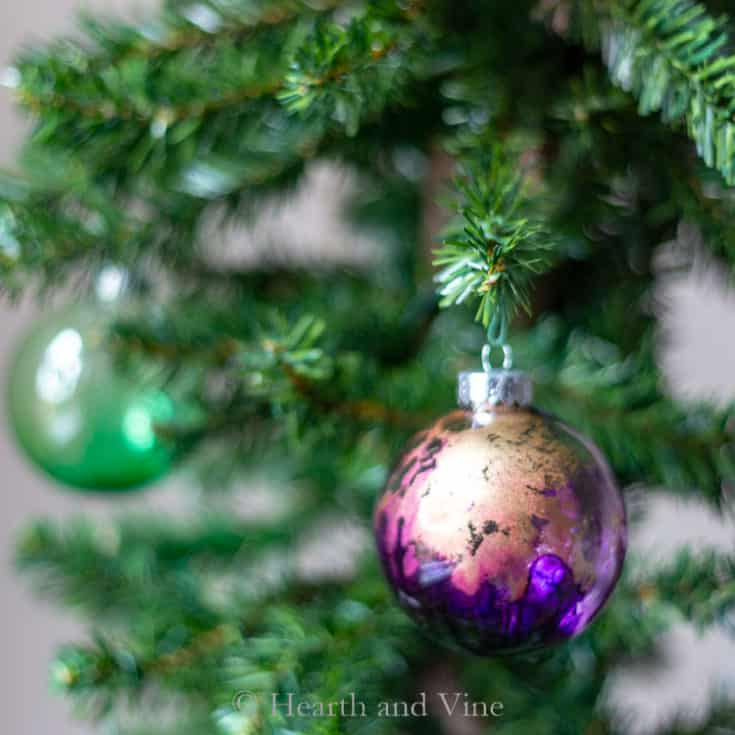 Alcohol Ink Ornaments That Look Like Colorful Blown Glass