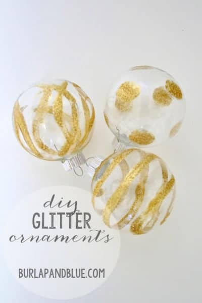 how to make glitter ornaments {a tutorial}