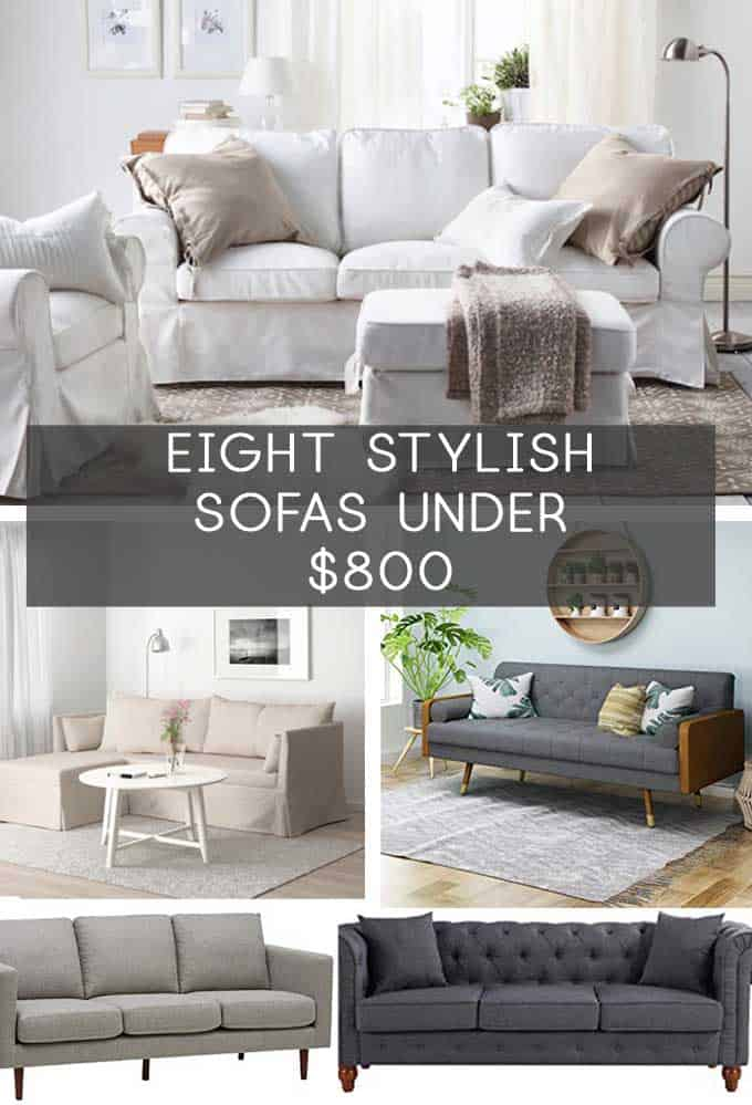 collage of sofas