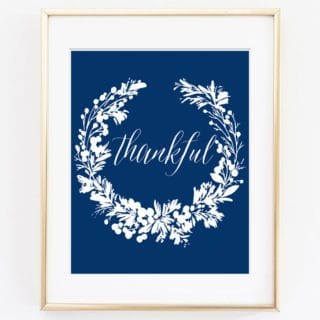 thankful printable art