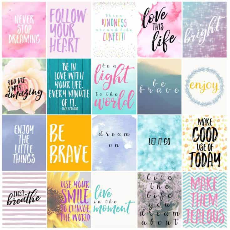 Free Motivational Printable Planner Stickers