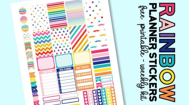 FREE Printable Rainbow Planner Stickers – Weekly Kit