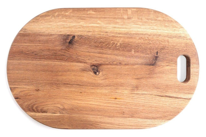 oval wood board
