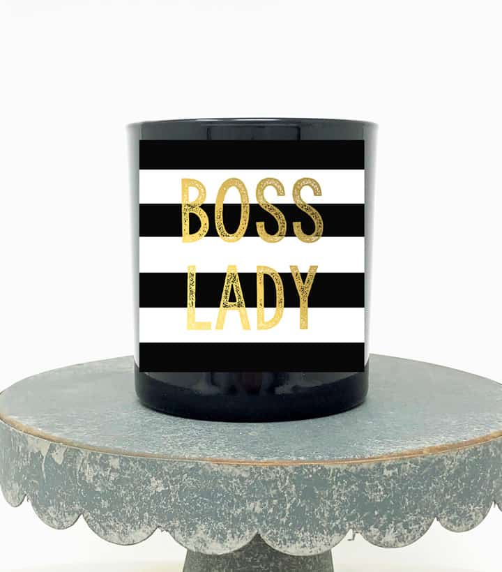 boss lady candle