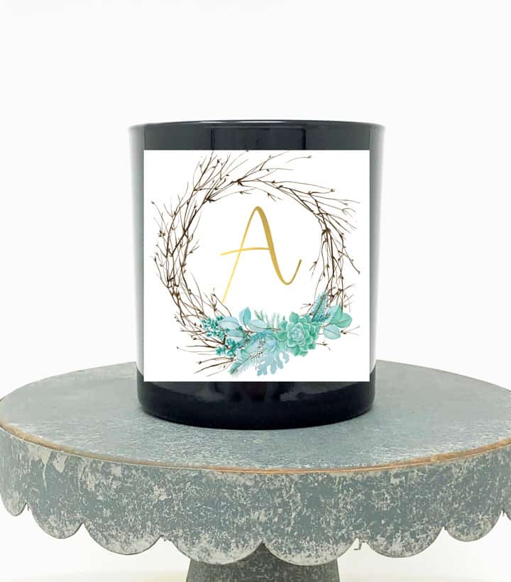 succulent wreath candle