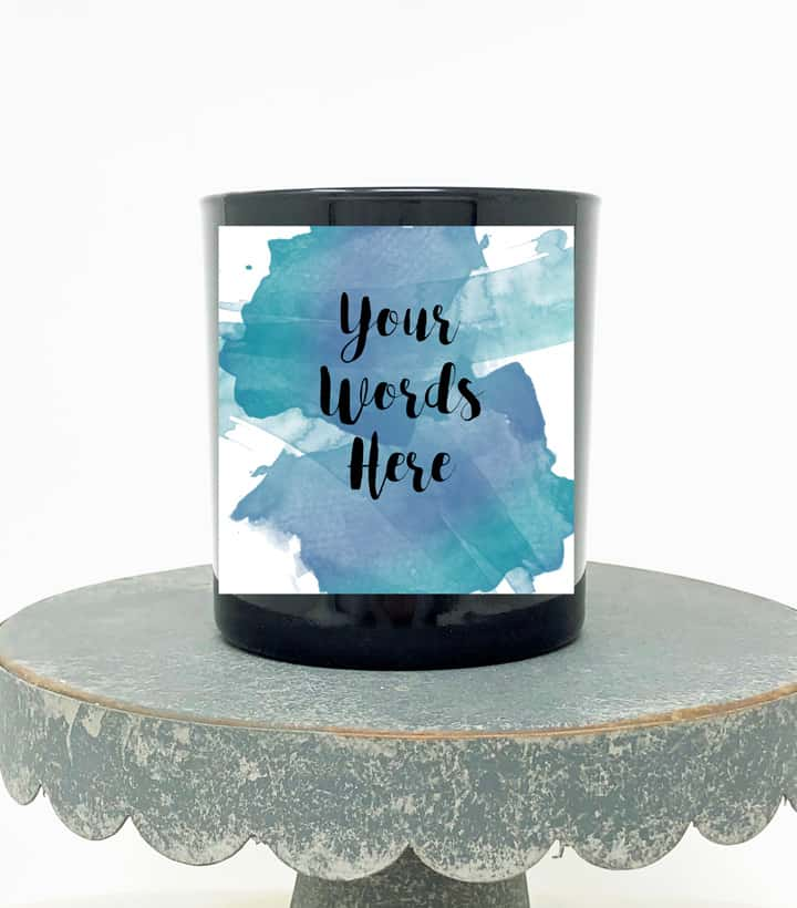 your words here candle