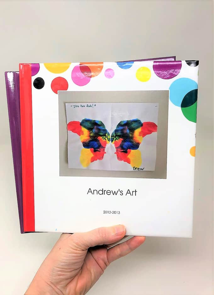 photo book of kids art