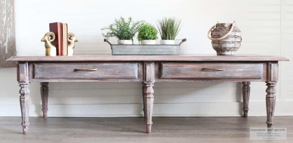 coffee table lime washed