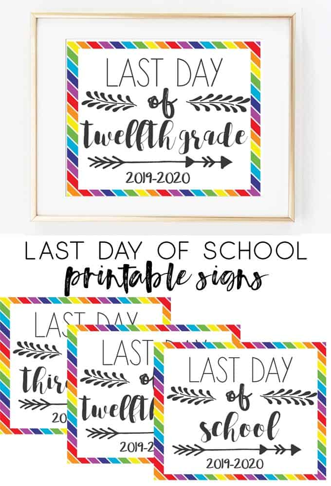 free last day of school sign